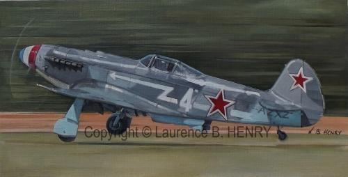 yakovlev,aviation art,yak 3,tableau,artiste peintre aéronautique