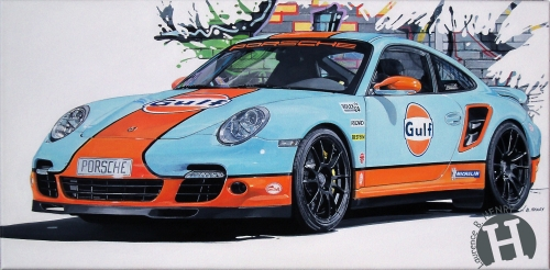 porsche,911,turbo,gulf,art