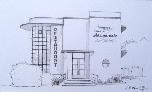 archisketc, aéropostale, architecture, dessin