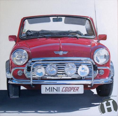 mini,austin,cooper,art,automobile,art ô carré