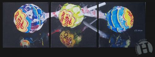 art contemporain,artiste peintre,sucette,confiserie,chupa chups,hyperréalisme,peinture,photoréalisme