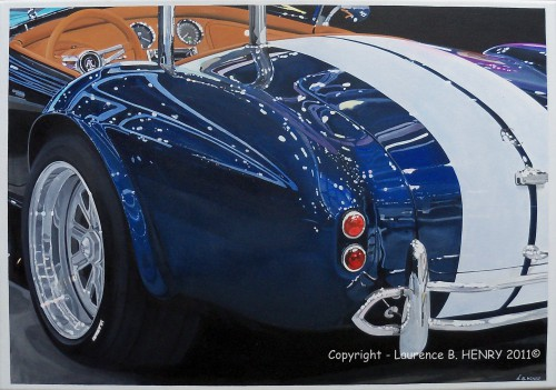 Ac Cobra, art, automobile, tableau