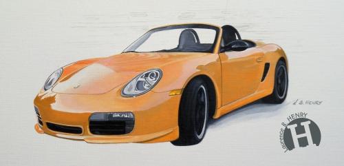 illustration,automobile,illustrateur,porsche,boxster
