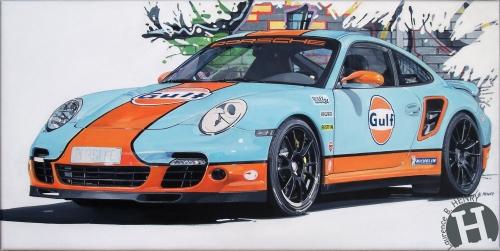 porsche,911,turbo,gulf,art