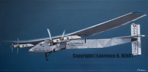 solar impulse,avion,solaire,actu,actualité,aviation,tour du monde,art,painting
