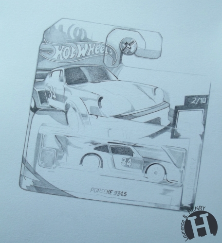 hyperréalisme,dessin,hot wheels