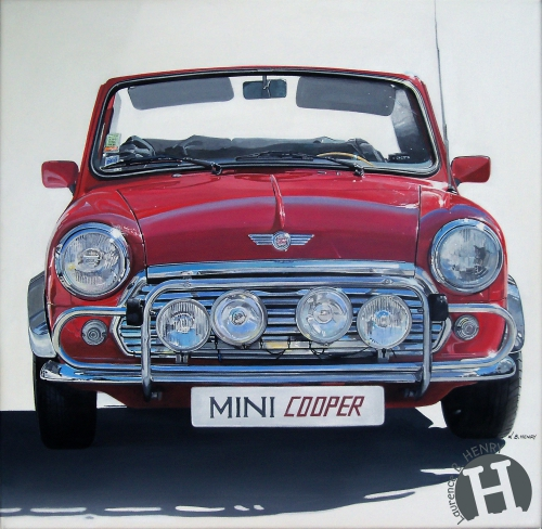 mini,austin,cooper,art,automobile,art ô carré